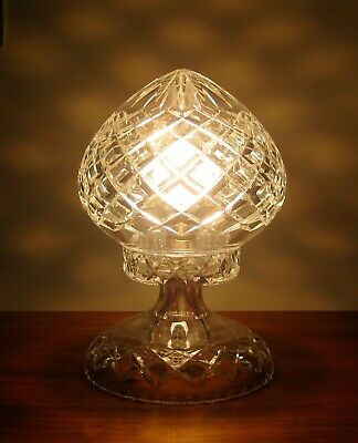 "Deep Cut Crystal  "" Mushroom "" Electric Lamp*Excellent Condition / Working Order"