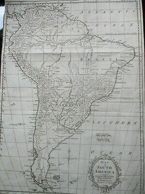 Antique map of South America, Kitchin, 1777