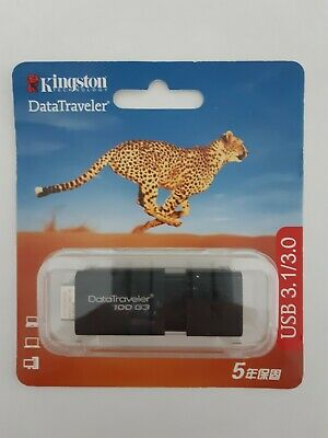 Kingston Clé USB Kingston 32 Go DataTraveler DT100 G3 Flash DriveUsb 32Go Noir