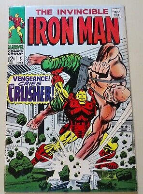 19-C0614: Iron Man # 6, 1968, NM- 9.2! The CRUSHER! See Promo 7 for 7!