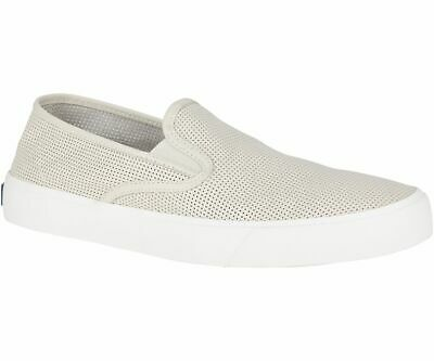 Sperry STS19286 Top-Sider Men's Captain's Slip On Sneaker Shoe White Size 11 US