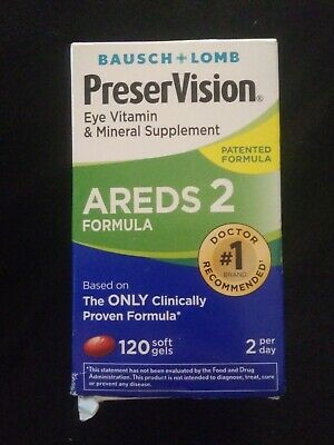 Bausch + Lomb PreserVision Eye Vitamin AREDS 2, 120 Softgels EXP: 08/2019+