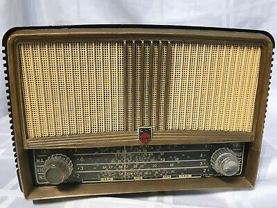 Vintage valve radio Philips 161A 1956. Working condition.