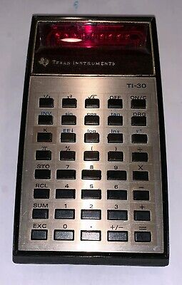 TEXAS INSTRUMENTS TI30 Calculator Original Case Vintage Tested Working  Collector