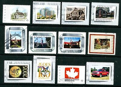 Weeda Canada Used lot of 12 personalized Picture Postage issues, all different