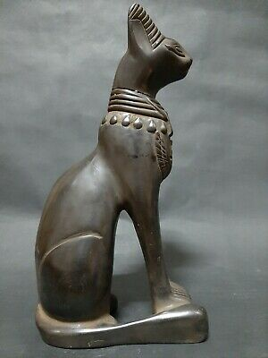 ANCIENT EGYPTIAN ANTIQUES BASTET Goddess Pharaoh Ubasti Cat EGYPT Stone BC