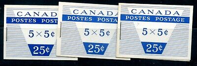 Weeda Canada BK49c VF booklets with 12, 14 & 16 mm staples CV $19
