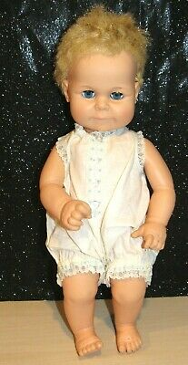 """Beautiful UNUSUAL FACE Vintage 1960s Horseman baby doll -16"""" tall. ADORABLE B 19"""