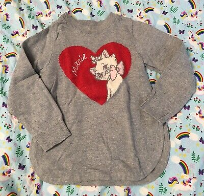 Baby Gap Toddler Girl Disney Marie Gray Long Sleeves Sweater size 4