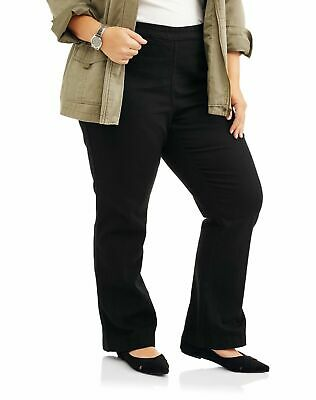 Just My Size Women Plus-Size 4 Pocket Stretch Pull On Bootcut Jeans Elastic