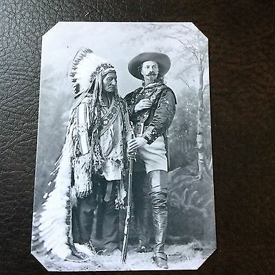 Buffalo Bill And Sitting Bull B&W tintype C720RP