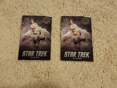 Two Dave and Busters Star Trek Mugato Rare Cards- Regular Edition