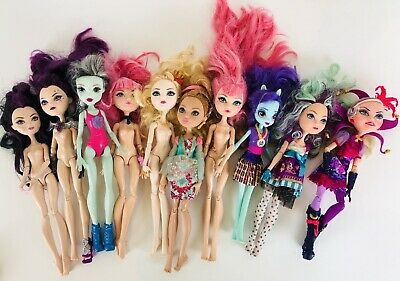 Monster High Ever After High Doll Lot of 10 Mixed Lot 1 EG Doll