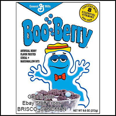 Fridge Fun Refrigerator Magnet BOO-BERRY MONSTER BREAKFAST CEREAL 80s Retro