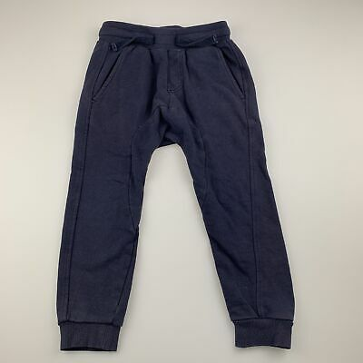 Boys size 3, Pumpkin Patch, navy track / sweat pants, elasticated, GUC