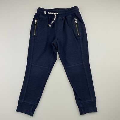 Boys size 3, Seed, navy stretch cotton casual pants, elasticated, GUC