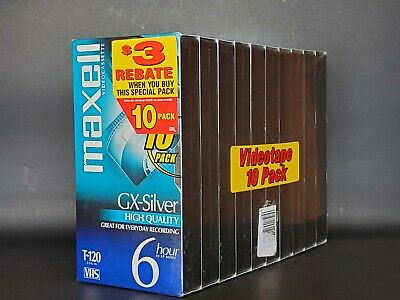 MAXELL Blank VHS Tapes