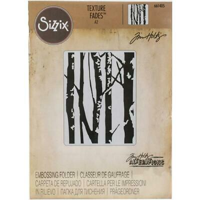 Tim Holtz Texture Fades Embossing Folder by Sizzix - Birch Trees