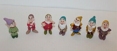 Walt Disney Snow White And The Seven Dwarfs Mini Figure Set 1993 Mattel 2 1/2""