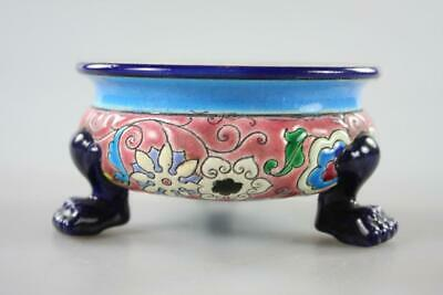 Art Deco French Ceramic Footed Bowl Majolica Wares