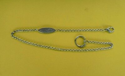 Early Jim Beam Silver Key Chain With Belt Clip-- Rare Item--***Free Post