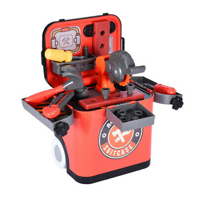 Children's Play Workbench Light Repair Tool Bench Construction Set With Tool Box