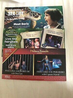 50% Off Half Price Tussaud's Sea Life Shrek Days Out Attraction Family Fun Kids