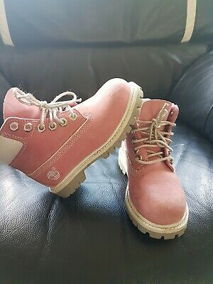 GIRLS BABY TODDLER Timberland Pink Boots Infant Size 5