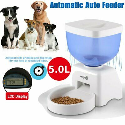 AUTOMATIC PET FOOD DISPENSER Dog Cat Feeder Waterer Auto Dish Bowl Combo