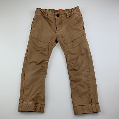 Boys size 4, Tilt, brown stretch cotton pants, adjustable, GUC