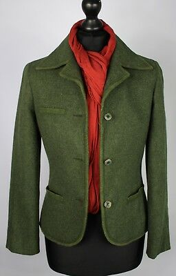 Country Blazer Jacket Hacking Green Fitted Size 8/10 SUPERB GARMENT 1497