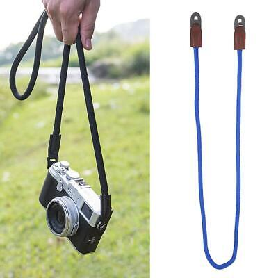 Universal Camera Strap Belt Leather Silky Cord Handmade Rope Neck for DSLR Cam