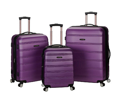 "Luggage Suitcase Travel Trolley Carry On Spinner ABS 3-Piece 20"" 24"" 28"" Set"