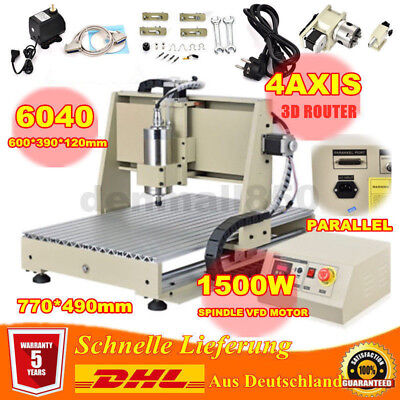 PARALLEL 4 Axis CNC 6040 Router Engraving Engraver Mill Drilling Machine