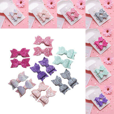 Baby Girls Double Layer  Bows Headwear Cute Hairpins Sequin Bow Kids Hair Clips