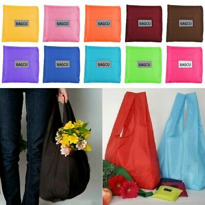 Eco Waterproof Grocery Compact Folding Reusable Shopping Bag Pouch Handbag Tote
