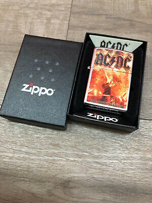 Authentic Zippo Lighter -  28454 ACDC - No Inside Guts Insert