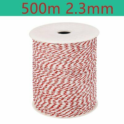 500M Roll Polywire Electric Fence Energiser Stainless Steel Rope Wire Insulator