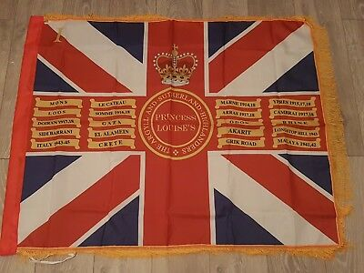 The Argyll and Sutherland Highlanders 1st Bn Queens colours flag