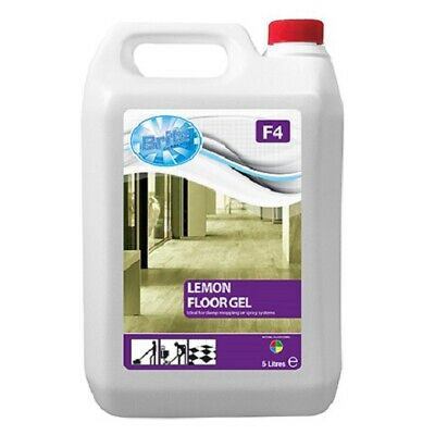 5L (F4) Lemon Floor Gel Multi Surface Cleaning - For Damp Mopping & Spray System