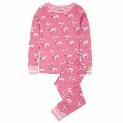 Hatley Organic Cotton Pyjamas Darling Deer Print with Contrasting Cuffs & Collar