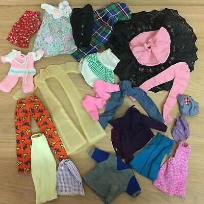 Vintage Barbie Sindy Tressy Clone Doll Clothes Mixed Bundle Tops Trousers Skirts