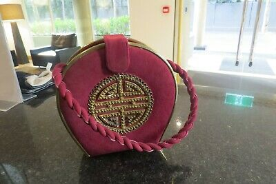 Vintage Chinese bag in box with mirror purse