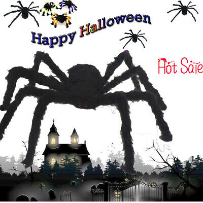 New Large Spider 75cm Giant Halloween Party Prop Scary Indoor Outdoor Decoration