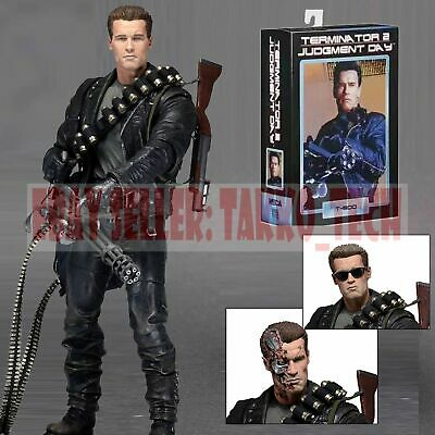 """NECA T-800 Terminator 2 Judgment Day Ultimate Deluxe Arnold 7"""" Action Figure New"""