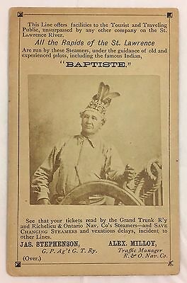 Antique c1890s Steamboat Pilot Photo Canada St. Lawrence River Trade Card
