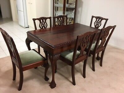 Mahogany 7 Piece Queen Anne Dining Suite
