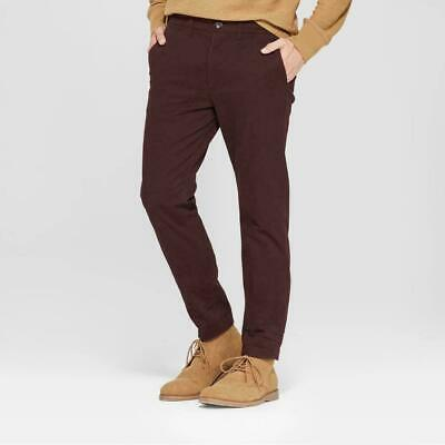 Men/'s Slim Fit Hennepin Chino Pants Red Select Size 4252 Goodfellow /& Co