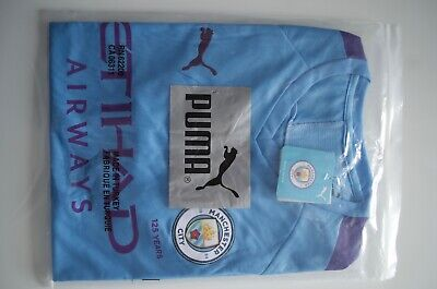 Manchester City Home Shirt/Jersey 19/20 Season, New, Tags, Large, Short Sleeve