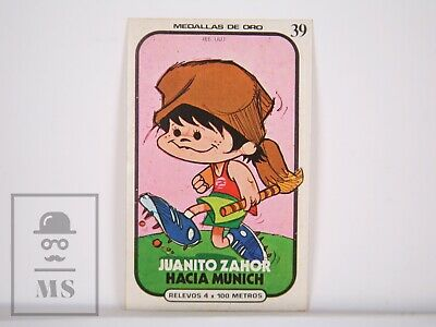 Trading Card Munich 1972 / 72 Olympic Games, 39, 4x100 Meter Relay - Chocolate